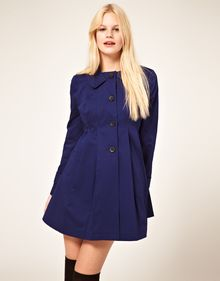 ASOS Collection Asos Pleated Swing Mac - Lyst