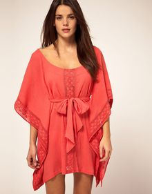 French Connection Kaftan With Cut Work Spot - Lyst