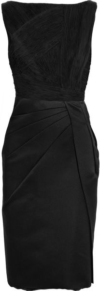 Valentino Pleated Silk Shift Dress - Lyst
