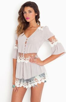Nasty Gal Ashbury Lace Top  - Lyst