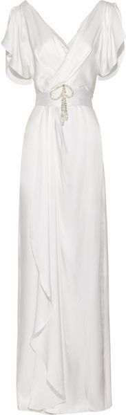 Temperley London Scarlett Crystal-embellished Silk-satin Gown - Lyst