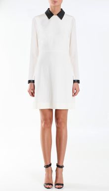 Tibi Silk Long Sleeve Dress - Lyst