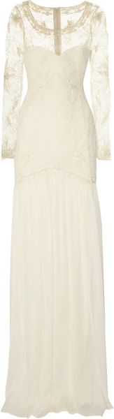 Temperley London Belle Embroidered Lace and Silk-chiffon Gown - Lyst