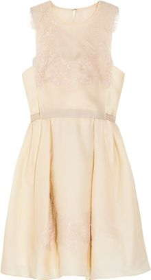 Carven Lace and Silk Organza-twill Dress - Lyst