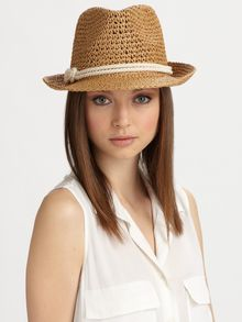 Genie By Eugenia Kim Darcy Crocheted Straw Fedora - Lyst