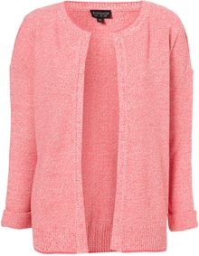 Topshop Knitted Tweedy Short Cardigan - Lyst