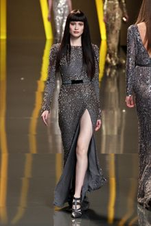 Elie Saab Fall 2012 Jewel Encrusted Split-Front Evening Gown  - Lyst