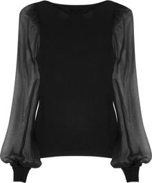 Valentino Crepe-jersey and Chiffon Top - Lyst