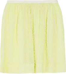 J.Crew Citron Sequined Silk-crepe Mini Skirt - Lyst