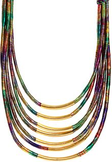 Asos Multi Row Thread Wrapped And Tube Necklace - Lyst