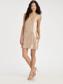 Elizabeth And James Sequin Singlet Dress - Lyst