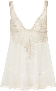 La Perla Beige and Mink Lace Embroidered Baby Doll Set - Lyst