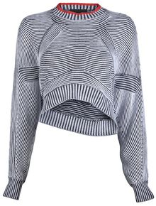 Alexander Wang Bicolor Shrug Sweater - Lyst