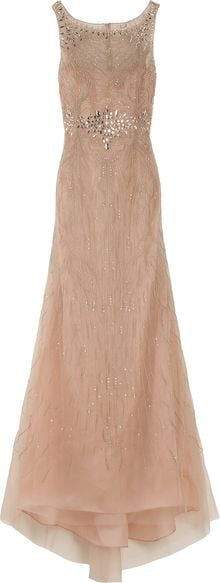 Carolina Herrera Round Neck Embroidered Gown - Lyst