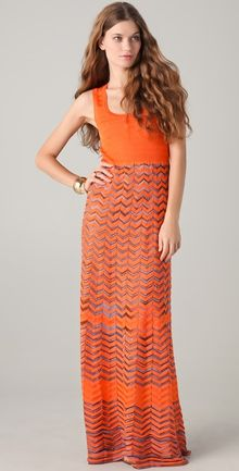 M Missoni Maxi Dress - Lyst
