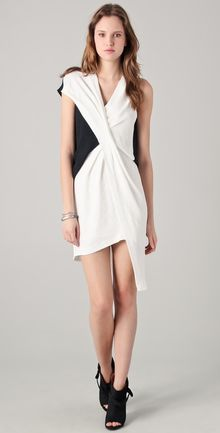 Helmut Lang Cross Tuck Dress - Lyst