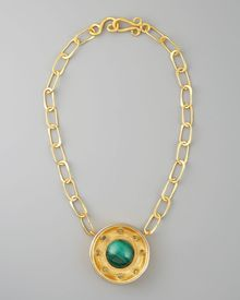 Stephanie Anne Malachite Pendant Necklace - Lyst