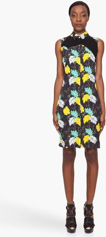 Proenza Schouler Floral Print Shirt Dress - Lyst