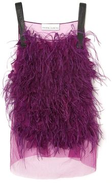 Prabal Gurung Embroidered Feather Tanke - Lyst