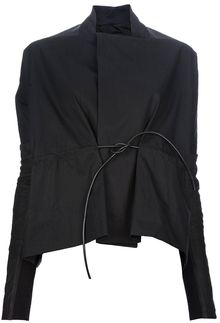 Rick Owens Leather Tie Jacket - Lyst