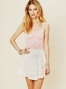 Free People Dot Printed Lace Cami - Lyst