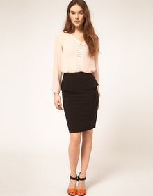 ASOS Collection Asos Tailored Pencil Skirt with Peplum - Lyst