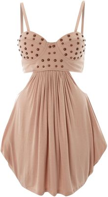House Of Dereon Cut Out Stud Bustier Dress - Lyst