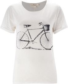 Linea Weekend Jersey Bycicle Print Tee - Lyst