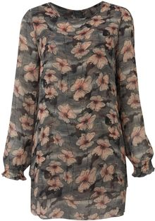 Madam Rage Floral Long Sleeve Tunic - Lyst