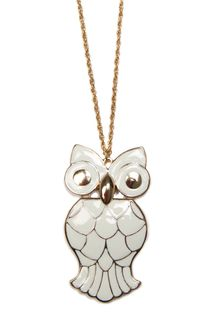 Mango Owl Necklace - Lyst
