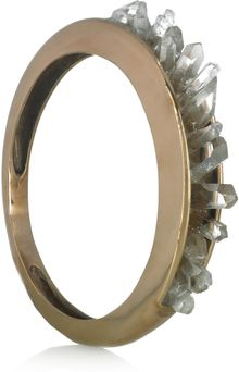 Pamela Love Bronze and Quartz Crystal Bangle - Lyst