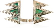 Pamela Love Mountain Bronze and Crysoprase Cuff - Lyst