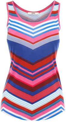 Oasis Chevron Stripe Scoop Vest - Lyst