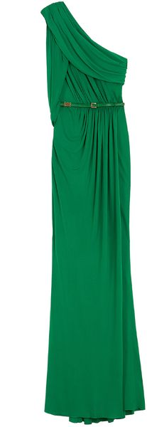 Elie Saab 1 Shoulder Long Dress - Lyst