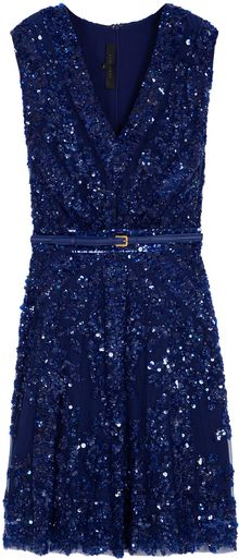 Elie Saab Short Sleeve Beaded Dress - Lyst
