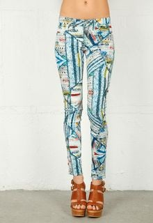 Rag & Bone Rag Bonejean Printed Legging in Surf Knit - Lyst