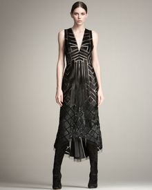 J. Mendel Calf-hair Cutwork Gown - Lyst