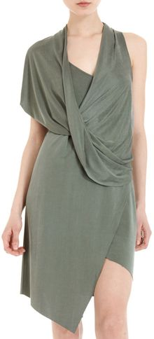 Helmut Lang Shoulder Drape Dress - Lyst