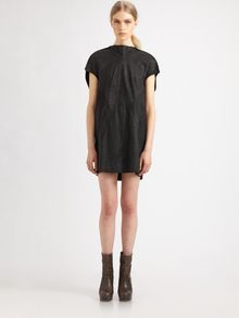 Rick Owens Washed Leather Tunic - Lyst