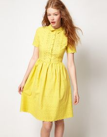 ASOS Collection Asos Shirt Dress in Embroidery - Lyst