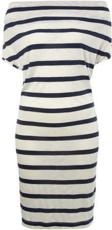 Linea Weekend Striped Cowl Neck Dress - Lyst