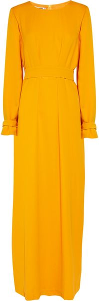 Jil Sander Helado Double Silkcrepe Dress - Lyst