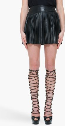Alexander McQueen Black Knee High Wedges - Lyst