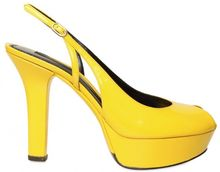 Dolce & Gabbana 120mm Patent Sling Back Open Toe Pumps - Lyst