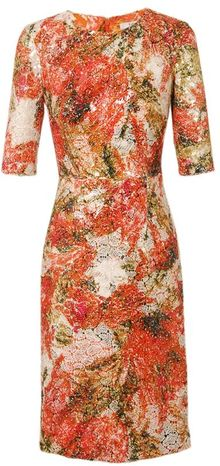 Erdem Ivy Sequin Encrusted Lace Dress - Lyst