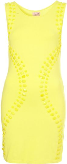 Topshop Gem Beaded Bodycon Dress By Dress Up Topshop - Lyst