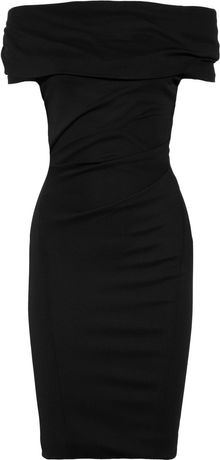 Donna Karan New York Draped Crepejersey Dress - Lyst