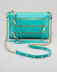 Rebecca Minkoff Mini Mac Crossbody Bag Bright Green - Lyst