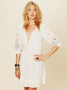 Free People Retro Sleeve Dress - Lyst