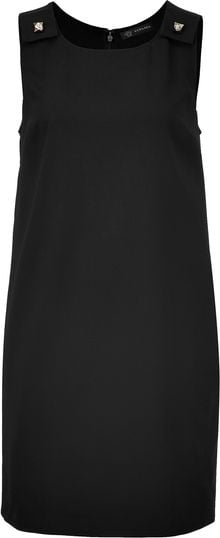 Versace Black Mini Dress - Lyst